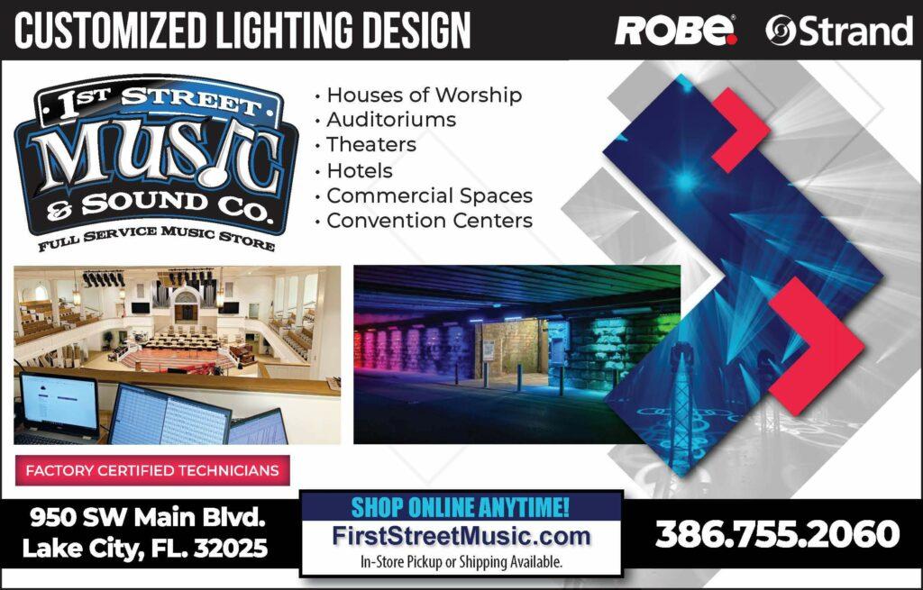 First Street Music Customized Lighting Design